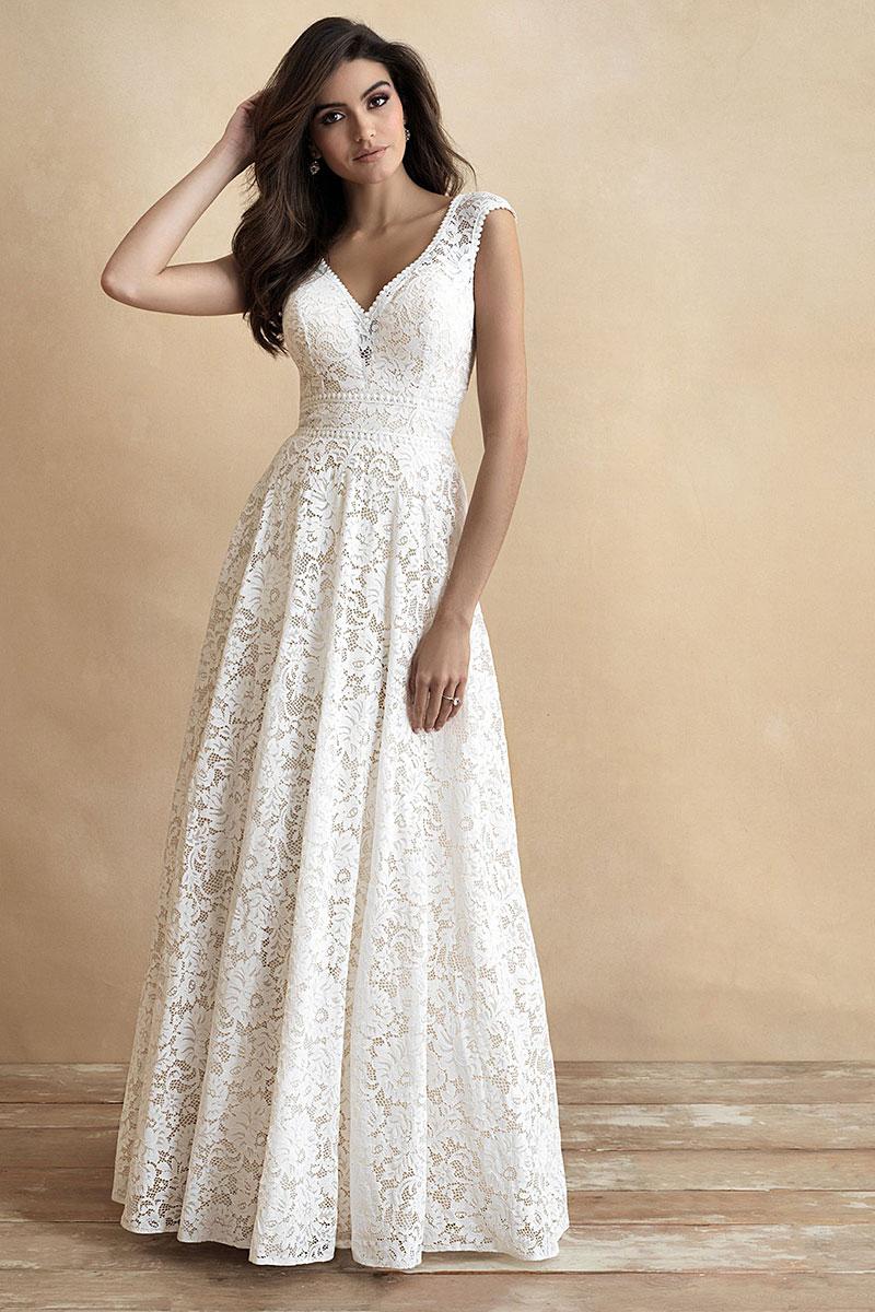 ALine Wedding DressAllure Romance 3312