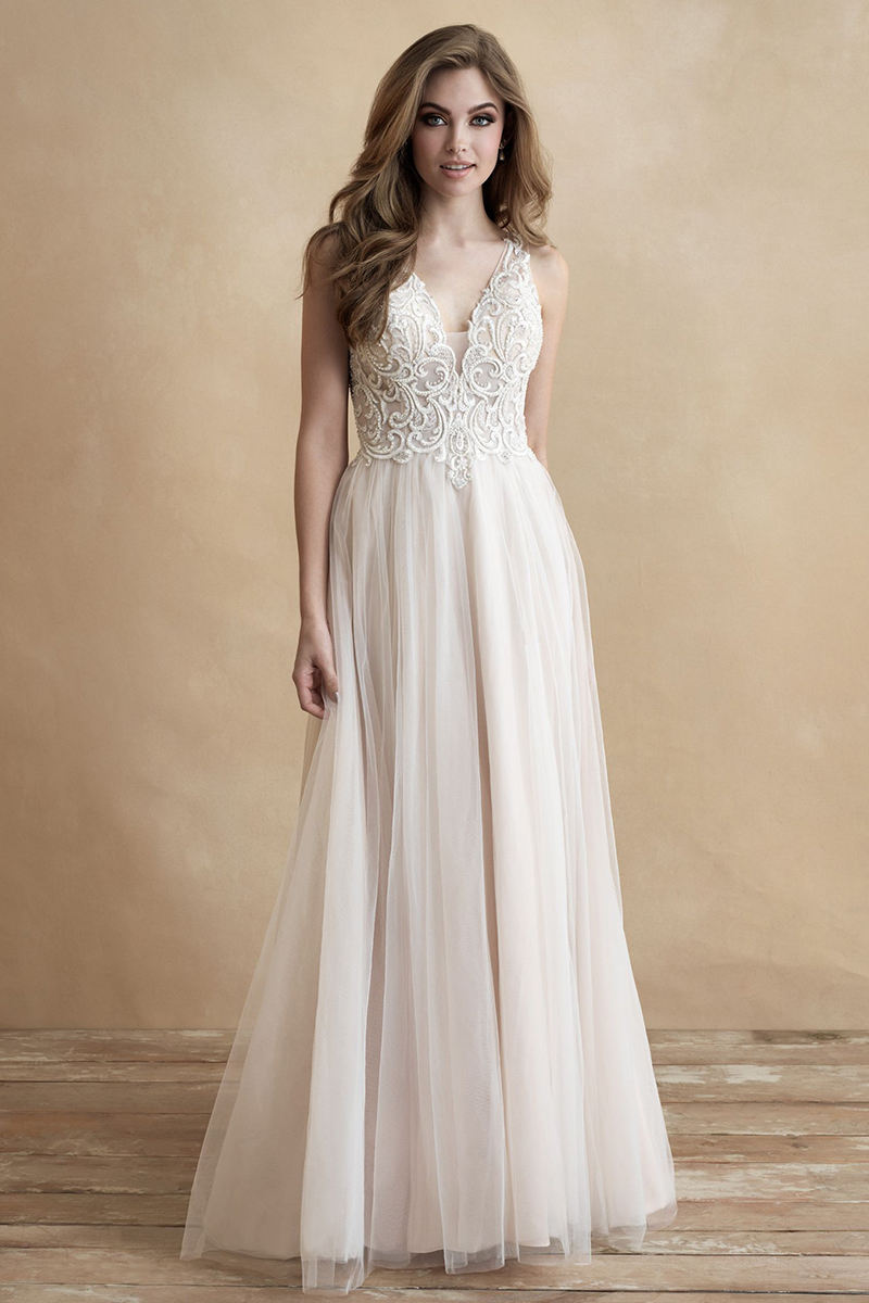 3314 Allure Romance Bridal Gown Cut traditionally