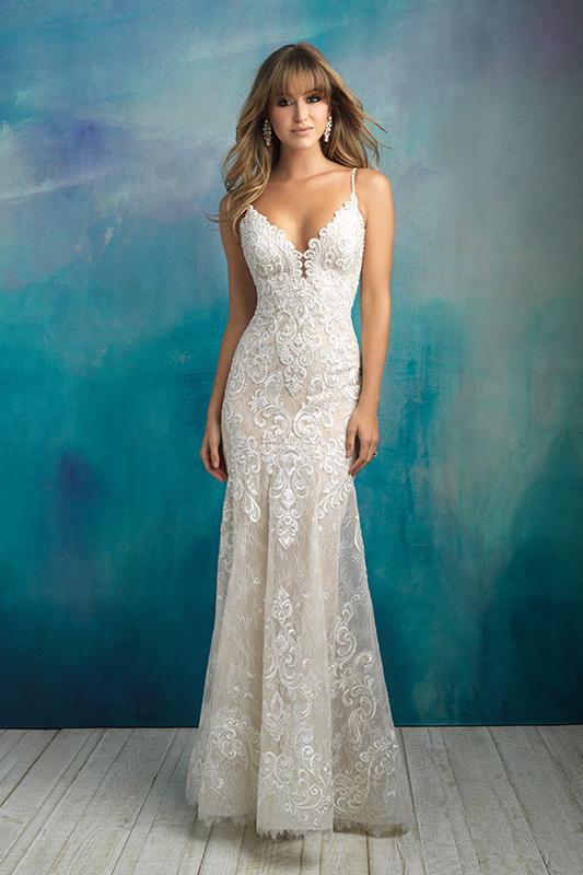 9501 Allure Bridals Sheath Wedding Dress