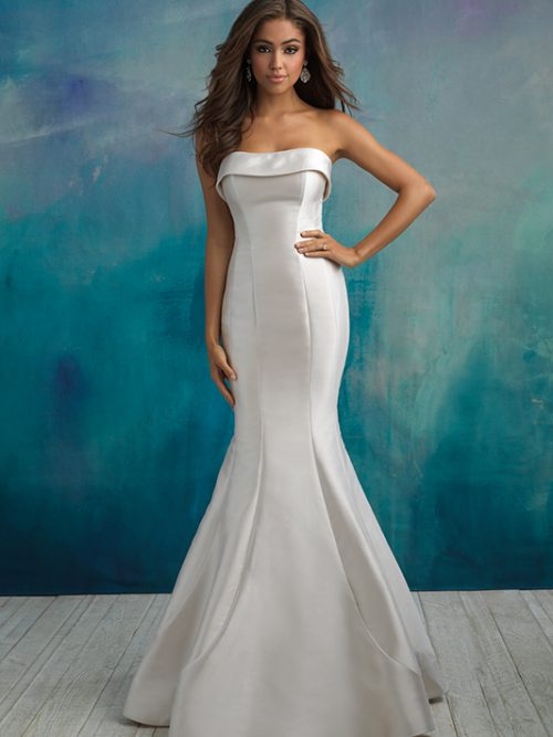 9514 Allure Bridals Fit and Flare Wedding Dress