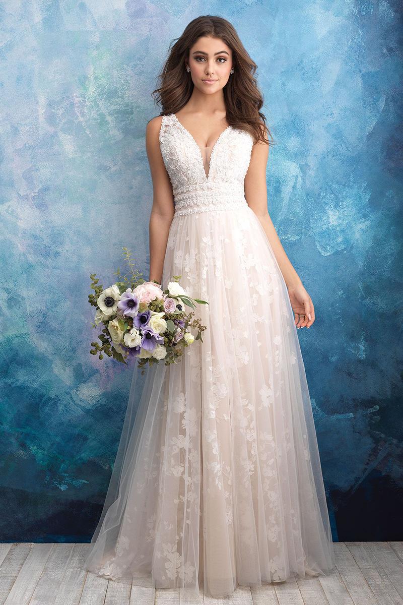 9561 Allure Bridals Subtle floral