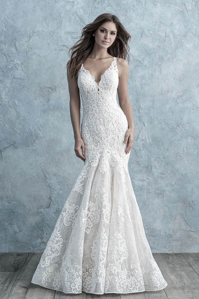 9651 Allure Bridals Fit and Flare Wedding Dres
