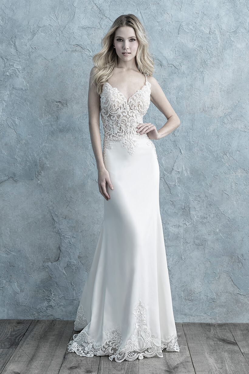 9664 Allure Bridals Fit and Flare Wedding Dress
