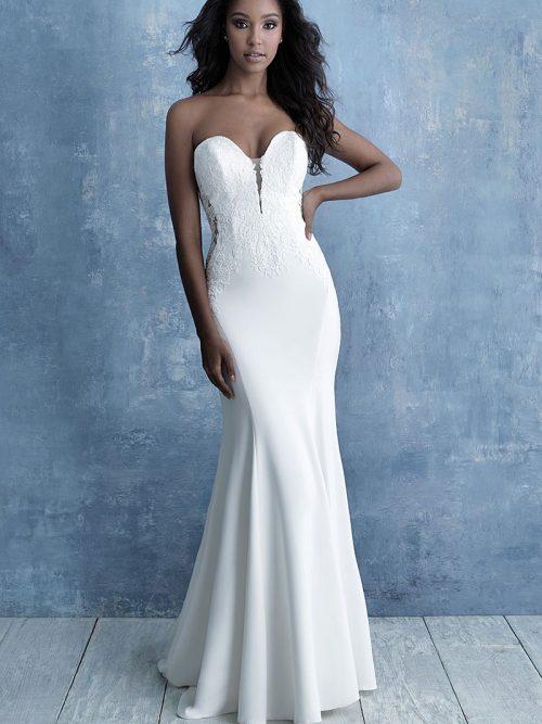 Sheath Wedding Dress Allure Bridals 9702