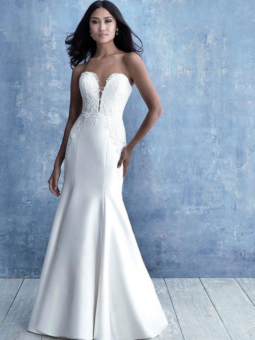 9717 Allure Bridals Stretch Mikado Wedding Dress